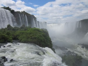 The falls at Iguazu- from the Brazil side.